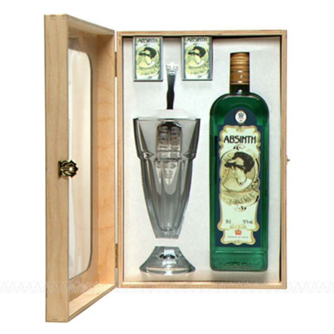 Fruko Schulz Green Absinth 70% alc. 500ml Wooden Box
