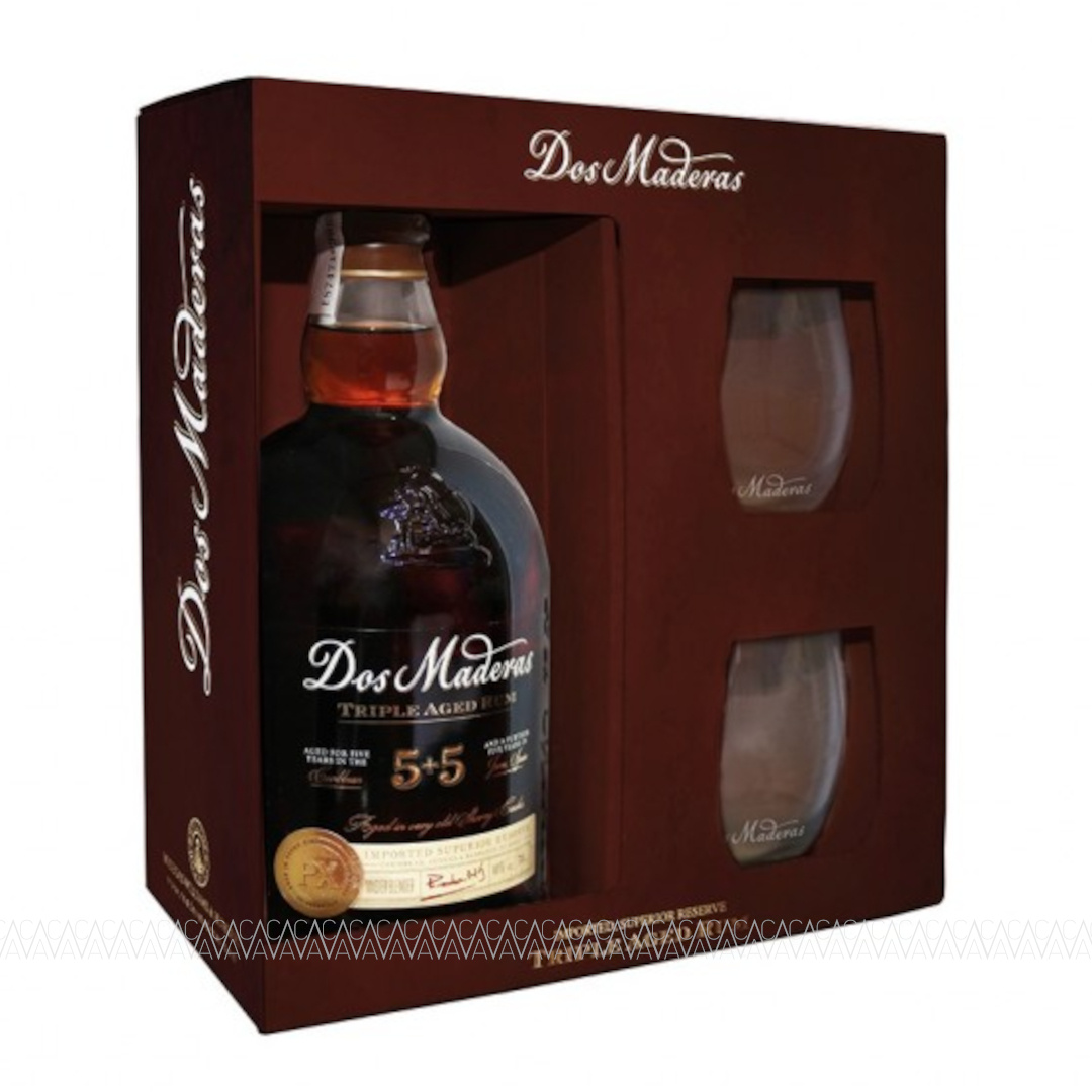 Dos Maderas Triple Aged 5+5 Years Rum 700ml + 2 Ποτήρια