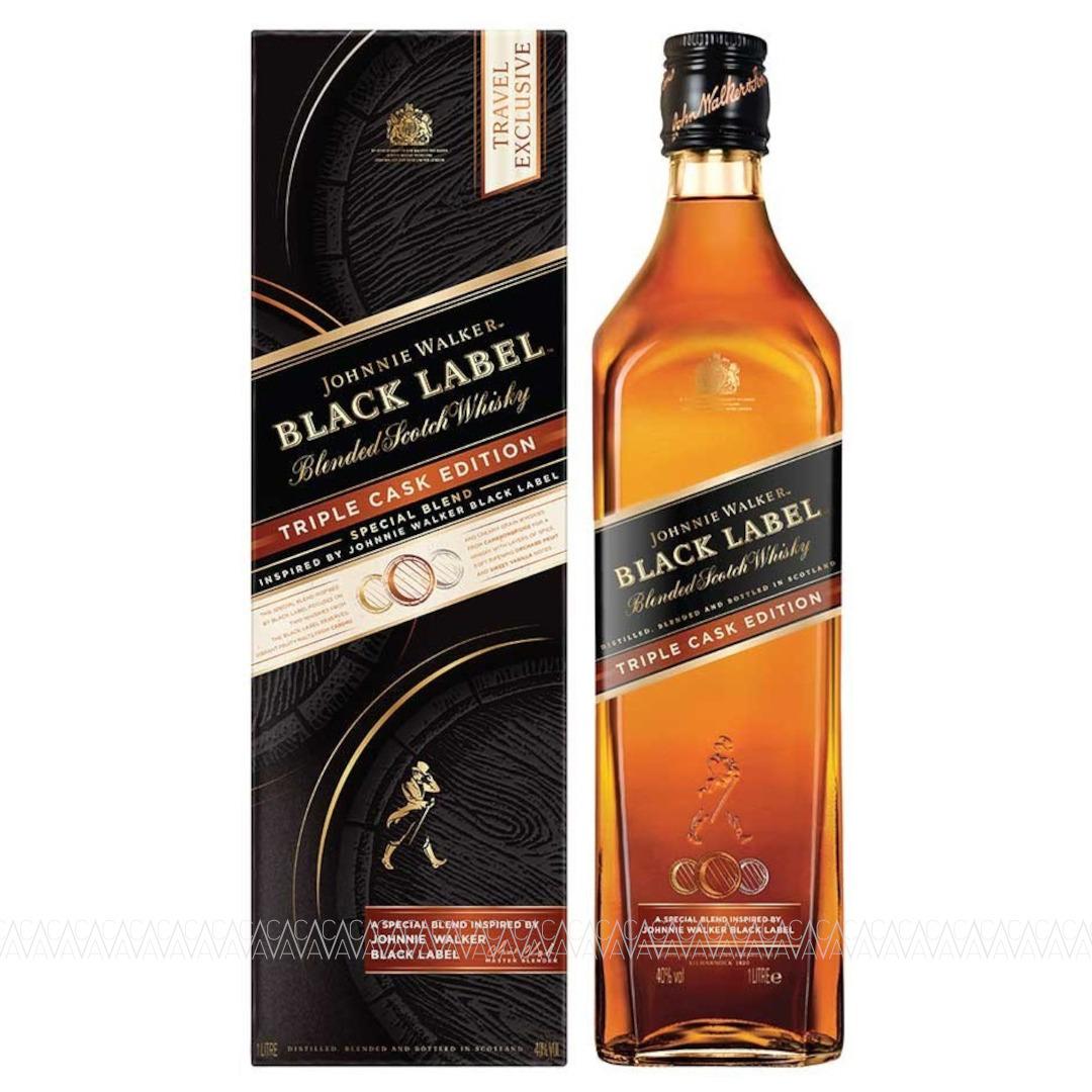 Johnnie Walker Black Label Triple Cask Blended Scotch Whisky 1L
