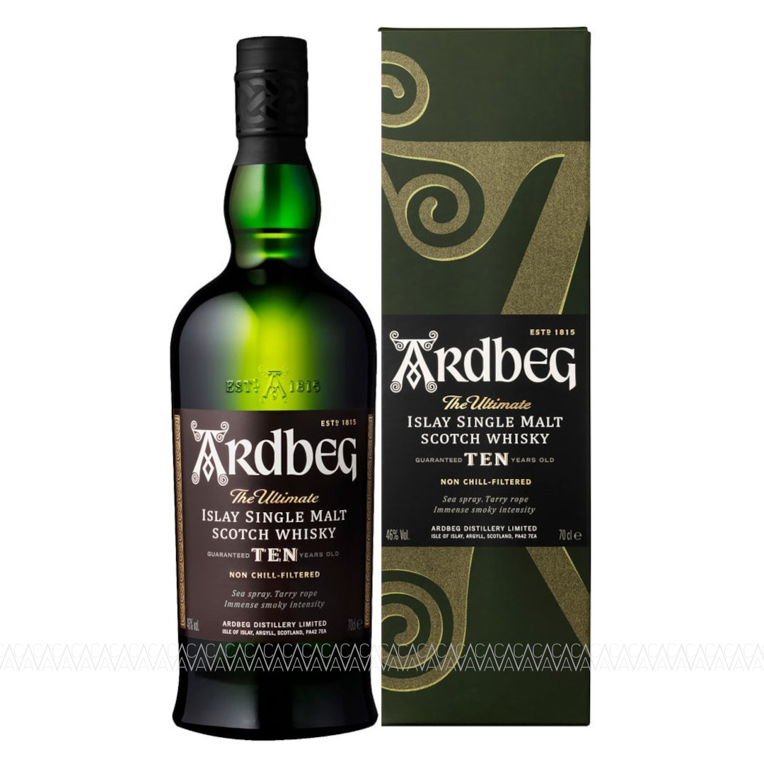 Ardbeg 10 Years Old Peated Single Malt Scotch Whisky 700ml