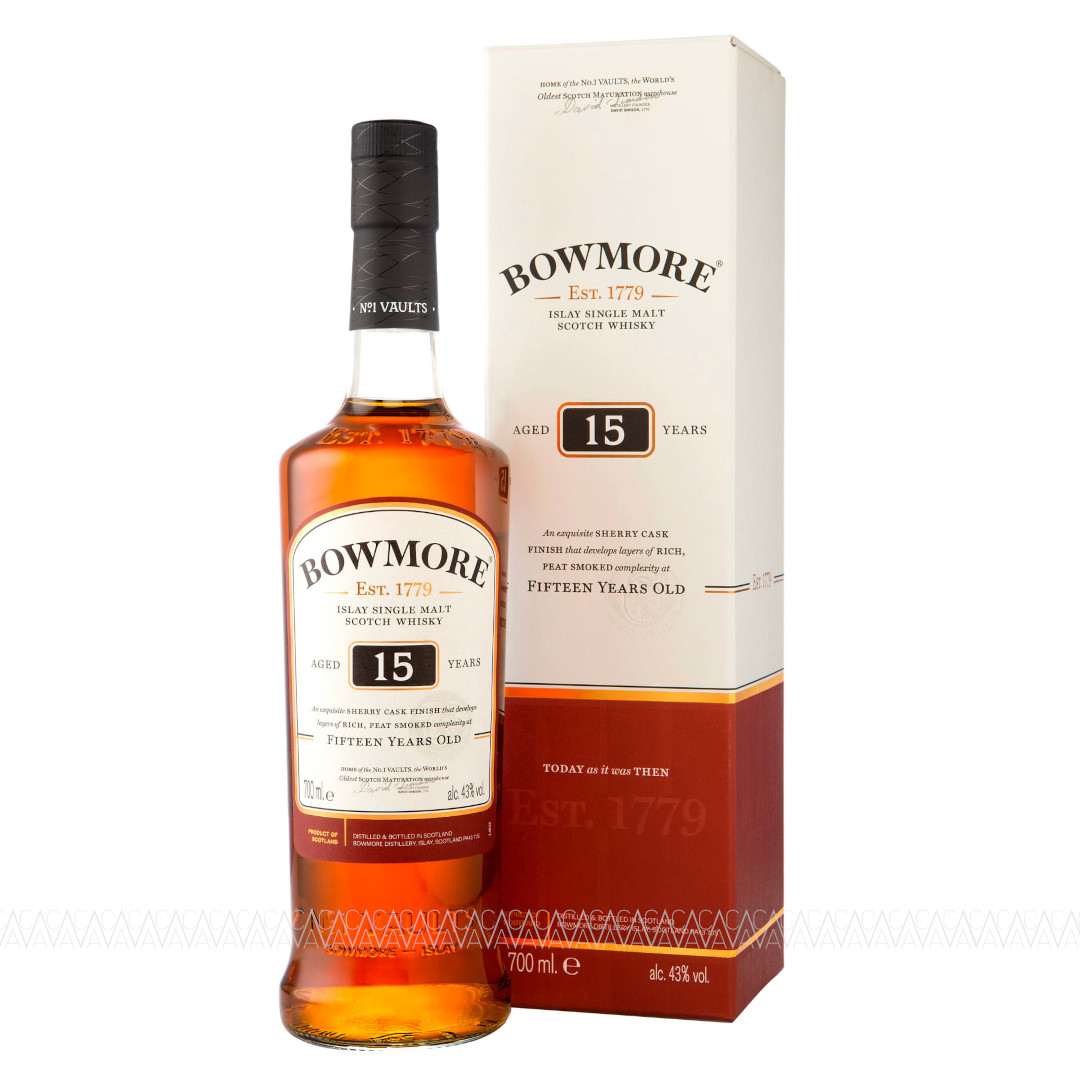 Bowmore 15 Years Old Sherry Finish Peated Single Malt Scotch Whisky