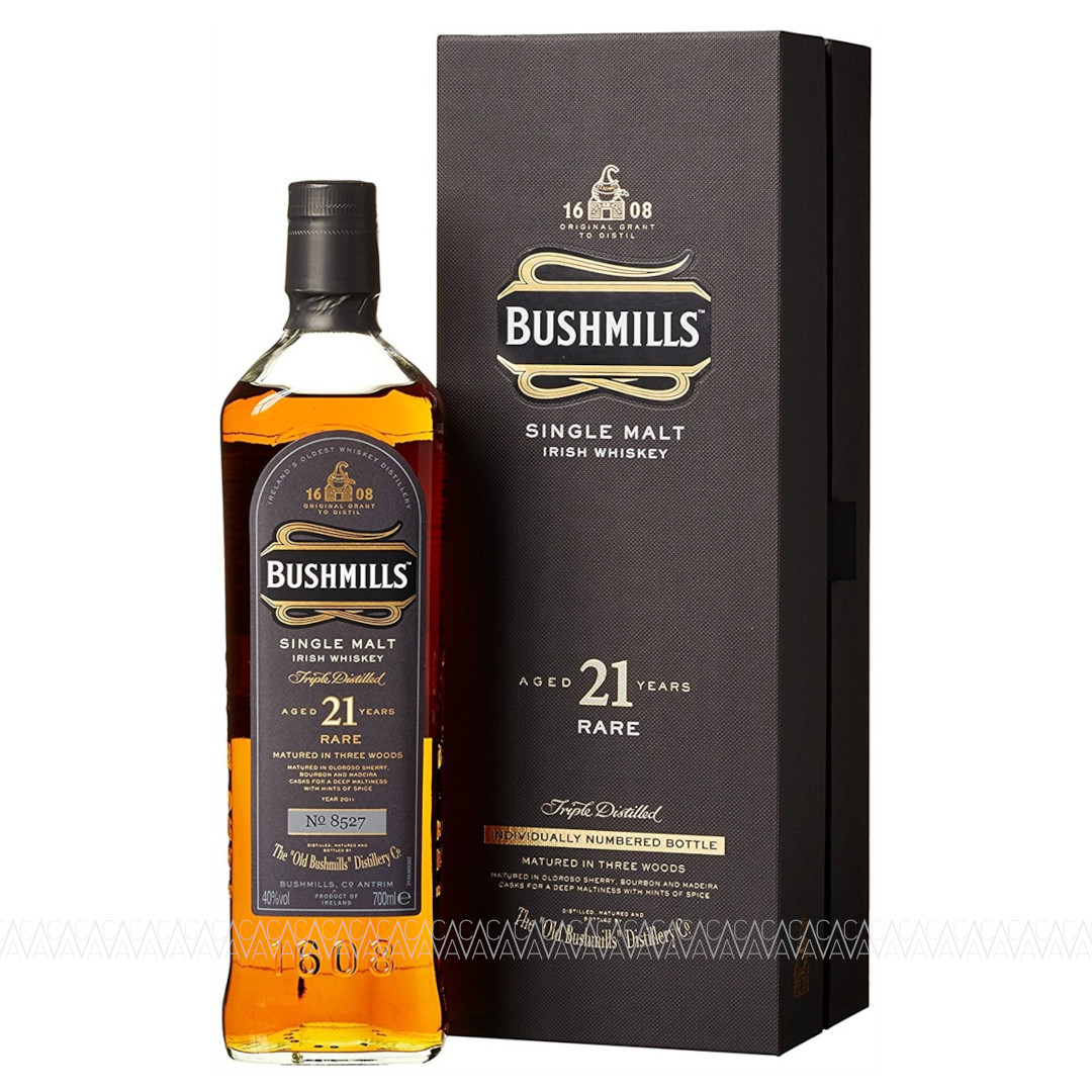 Bushmills 21 Years Old Single Malt Irish Whiskey 700ml