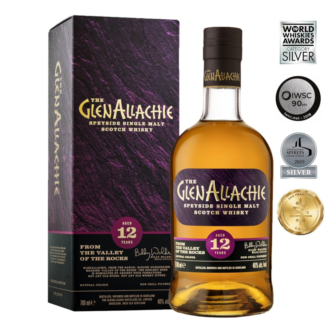 GlenAllachie 12 Years Old Single Malt Scotch Whisky 700ml