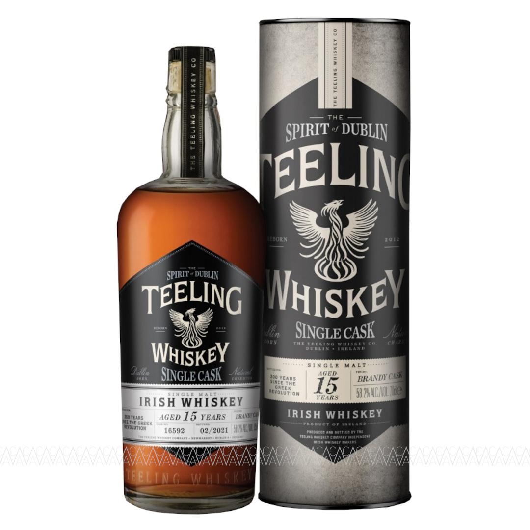 Teeling Greek Revolution Single Cask 15 YO Brandy Finish Single Malt Irish Whiskey Limited Edition 700ml
